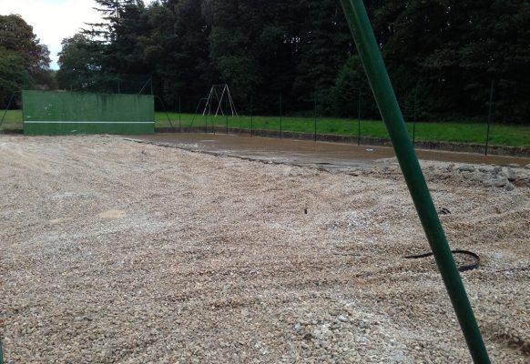 Terrain de tennis – renovation – Château des Grotteaux